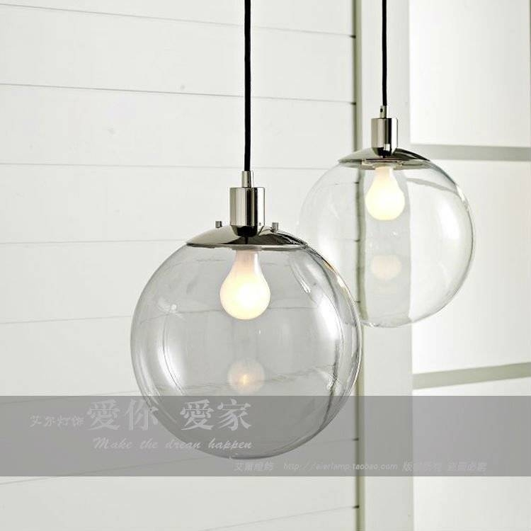 Popular Photo of Round Glass Pendant Lights