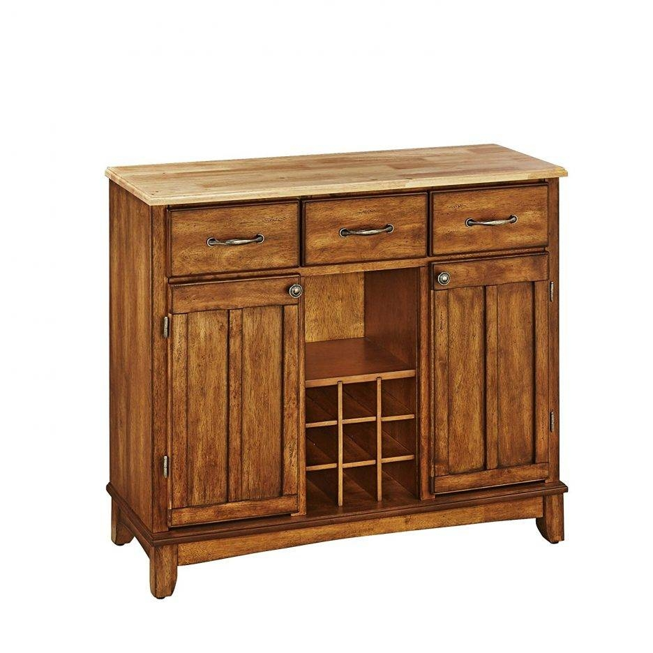 Wood Buffet Cabinet Extra Long Sideboards And Buffets Sideboard Intended For Current Sideboards With Glass Doors And Drawers (#15 of 15)