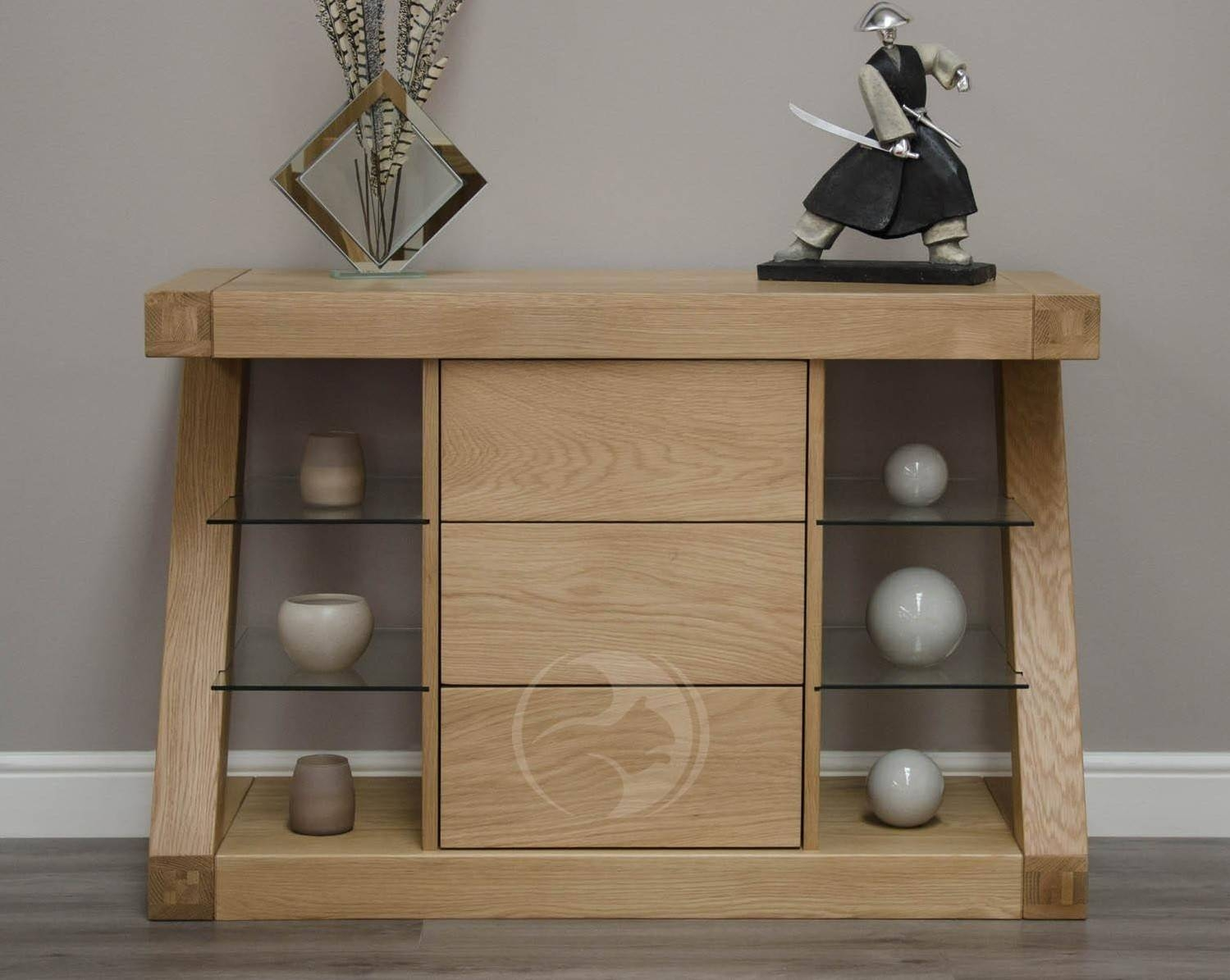 Inspiration about Z Shape Solid Oak Small Sideboard | Oak Furniture Uk Pertaining To Most Recent Solid Oak Small Sideboards (#4 of 15)