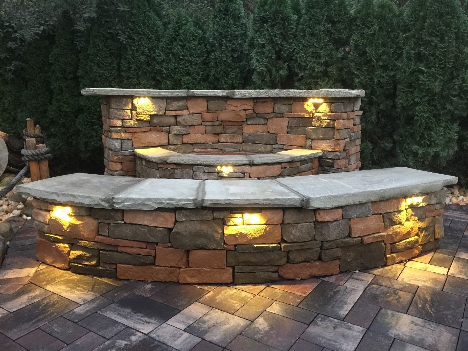 Inspiration about 1 Led Landscape Low Voltage Light Outdoor Hardscape Paver Step Regarding Outdoor Stone Wall Lighting (#12 of 15)