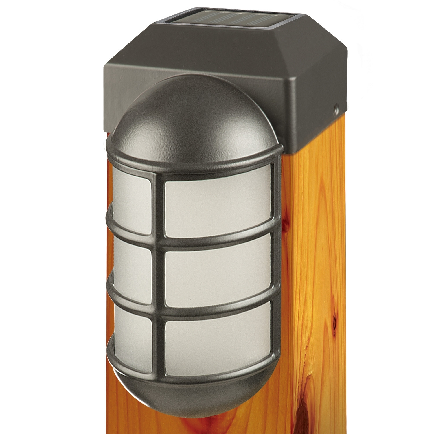 1 Light Fence Post Cap | Fence Post Caps, Fences And Cap Inside Modern Outdoor Solar Lights At Wayfair (#1 of 15)