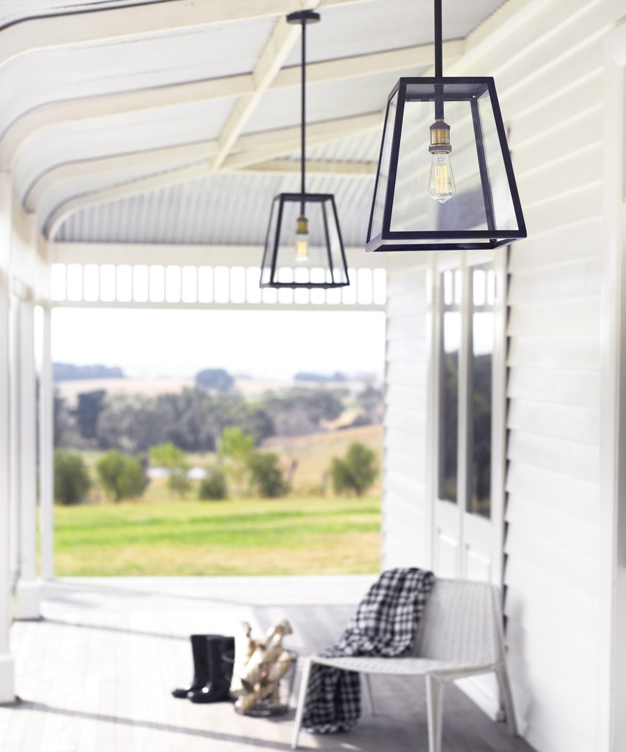 1 Light Large Exterior Pendant In Antique Black Throughout Beacon Outdoor Ceiling Lights (#1 of 15)