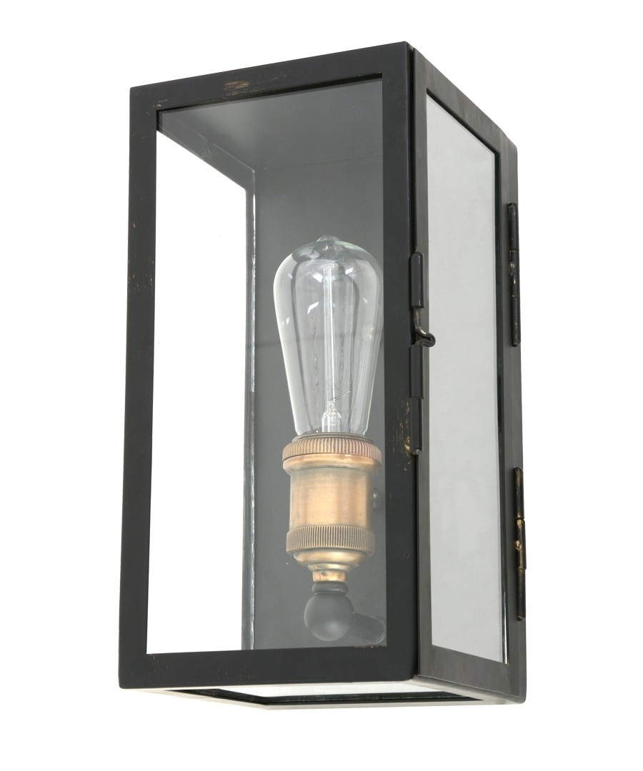 1 Light Small Wall Sconce In Antique Black Pertaining To Beacon Lighting Outdoor Wall Lights (#2 of 15)