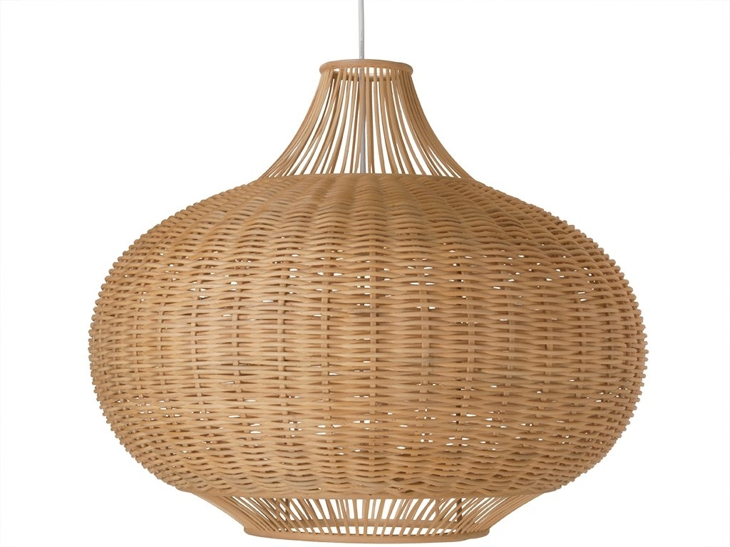 1 Light Wicker Pendant Lamp & Reviews | Allmodern Intended For Outdoor Rattan Hanging Lights (#1 of 15)