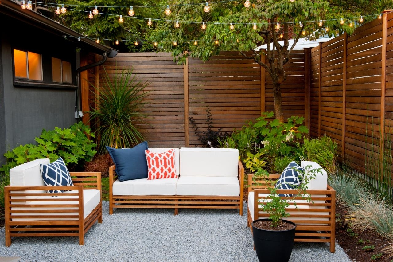 Inspiration about 10 Ways To Amp Up Your Outdoor Space With String Lights | Hgtv's Within Hanging Outdoor Lights On Fence (#11 of 15)
