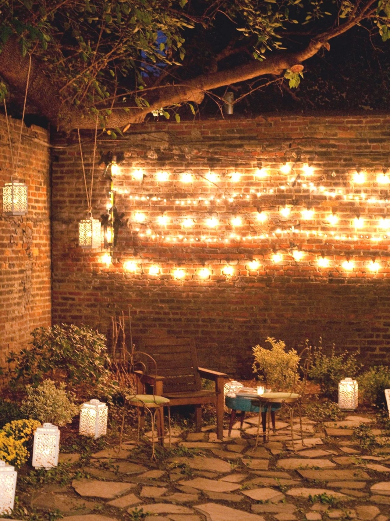 10 Ways To Amp Up Your Outdoor Space With String Lights | Hgtv's Within Outdoor Hanging Party Lights (#1 of 15)