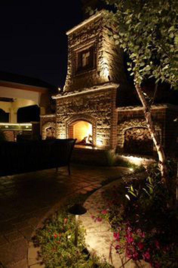 1000 Images About Rock Wall Lighting Effects On, Outdoor Fireplace Pertaining To Outdoor Rock Wall Lighting (#1 of 15)