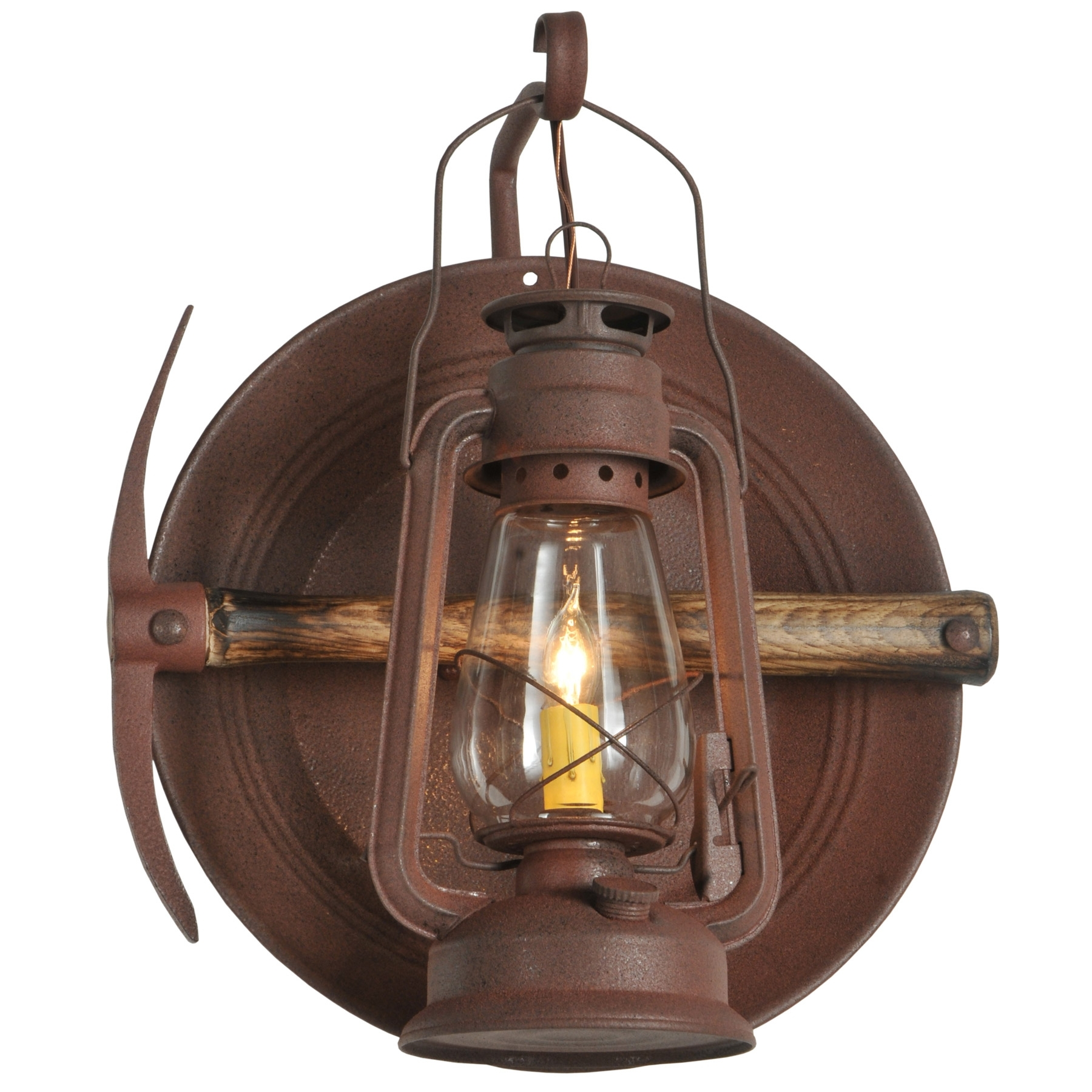 114829 Miners Lantern Wall Sconce Within Rustic Outdoor Wall Lighting (#1 of 15)