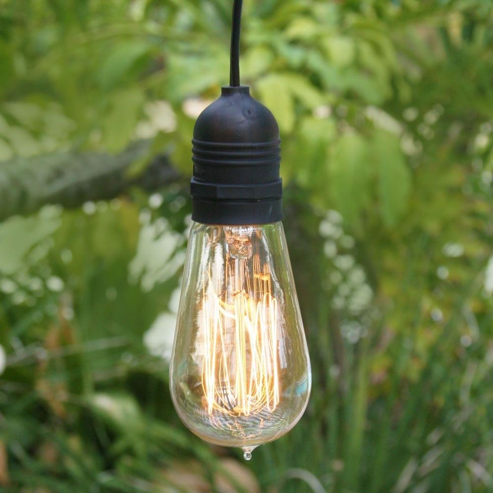 Inspiration about 11Ft Single Socket Black Commercial Grade Outdoor Pendant Light Lamp Regarding Commercial Grade Outdoor Hanging Lights (#3 of 15)