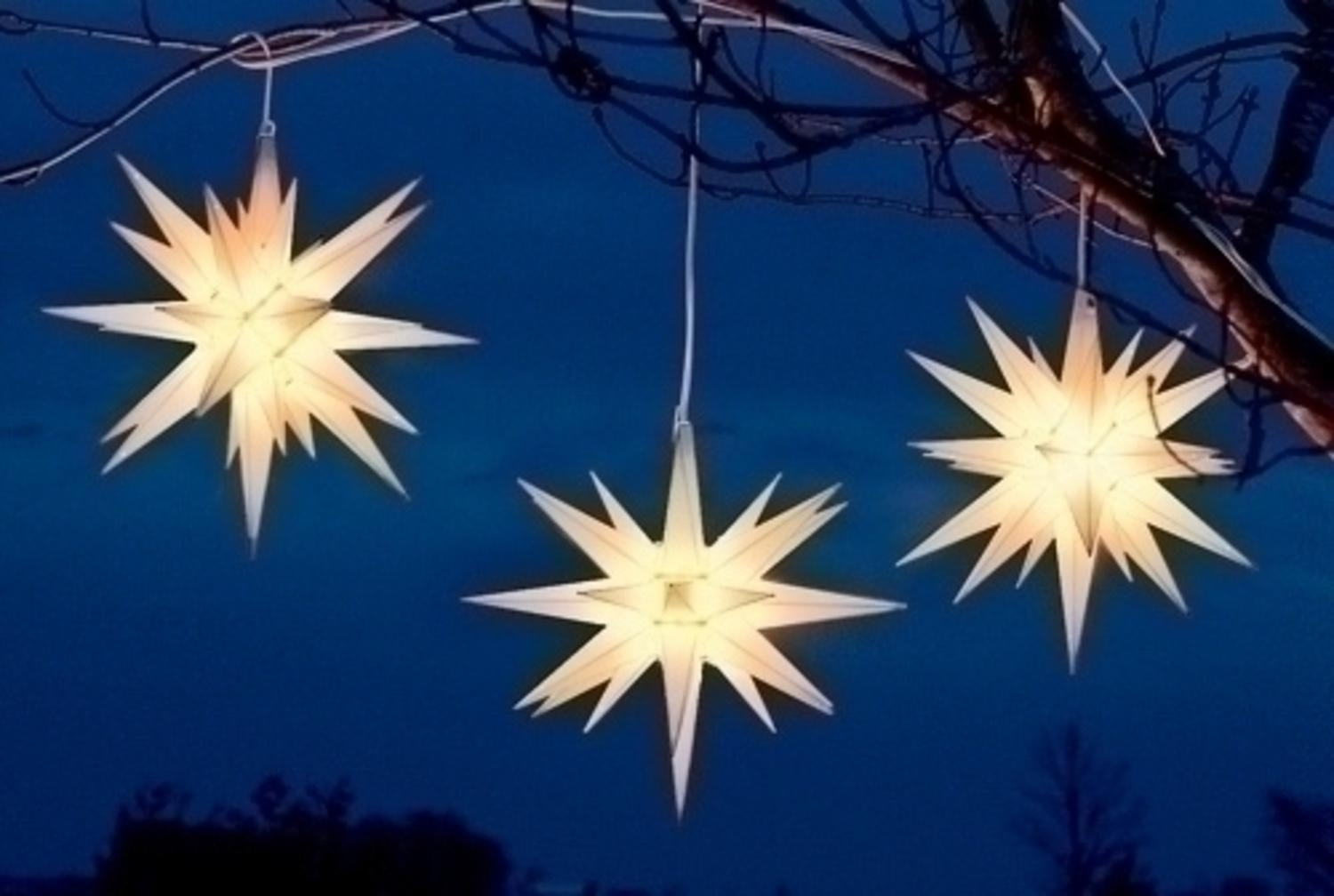 "14"" White Moravian Star Hanging Christmas Light – Walmart Pertaining To Outdoor Hanging Star Lights (#1 of 15)"