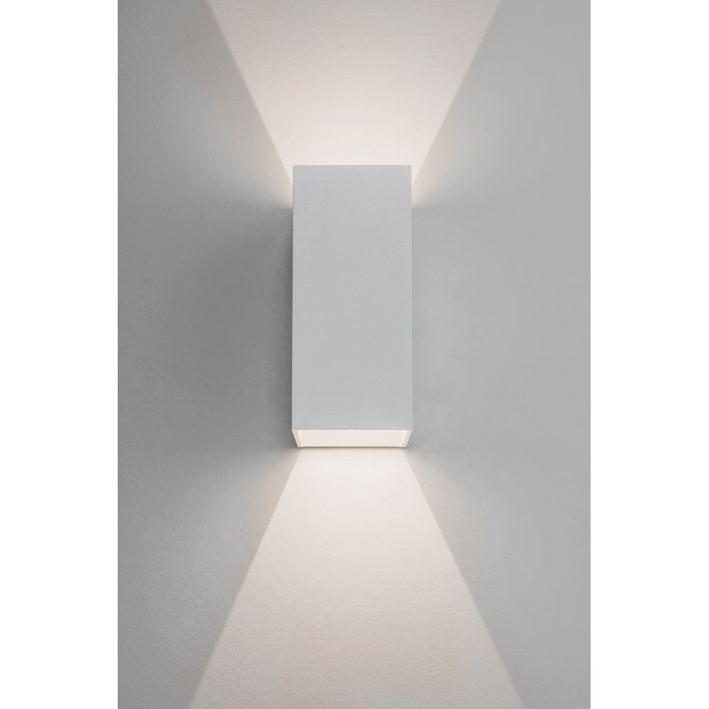 Inspiration about 157, Astro Lighting Oslo 160 Led 2 Light Outdoor Wall Fitting In Intended For White Led Outdoor Wall Lights (#6 of 15)