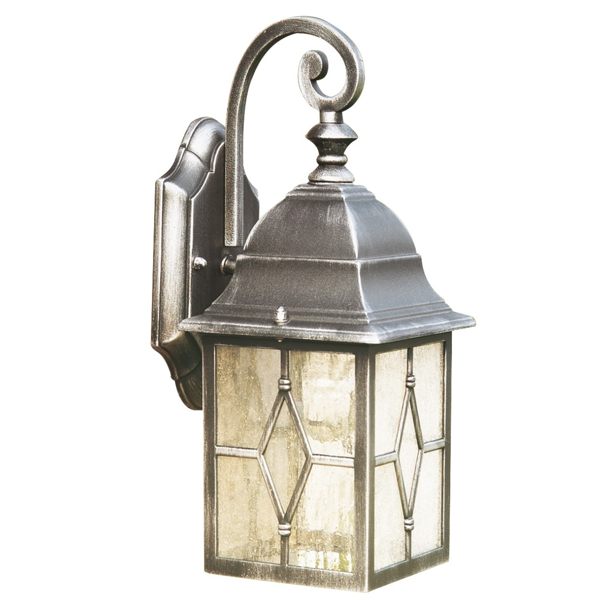 Inspiration about 1642 Genoa Ip23 Black & Silver Outdoor Wall Light With Lead For Silver Outdoor Wall Lights (#13 of 15)