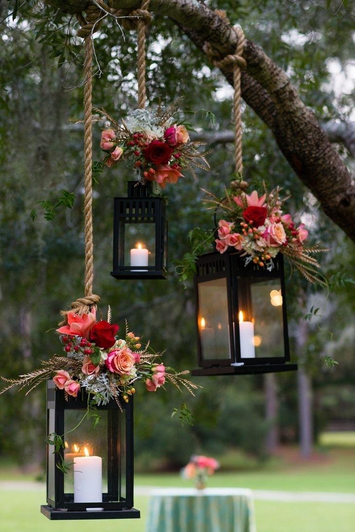 Popular Photo of Outdoor Hanging Lanterns For Wedding
