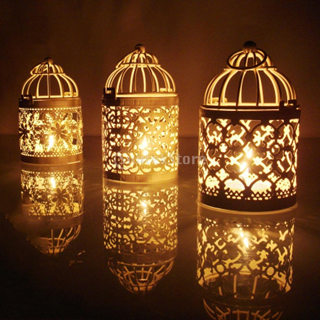 Inspiration about 1Pc Hollow Metal Birdcage Candle Tea Light Holder Holder Candlestick Pertaining To Hanging Outdoor Tea Light Lanterns (#9 of 15)