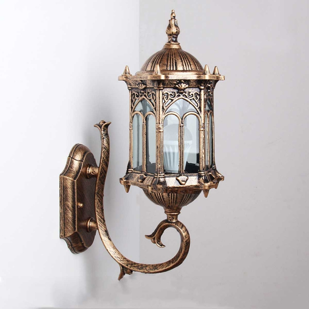 Inspiration about 1Pc Wall Sconce Top Grade Retro Exterior Lamp Antique Bronze With Regard To Antique Outdoor Wall Lighting (#14 of 15)