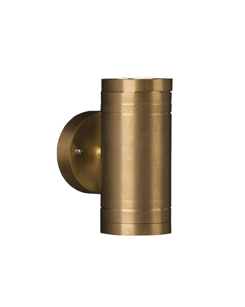 Inspiration about 2 Light Led Outdoor Up/down Wall Light In Solid Natural Brass Throughout Outdoor Up Down Wall Led Lights (#8 of 15)