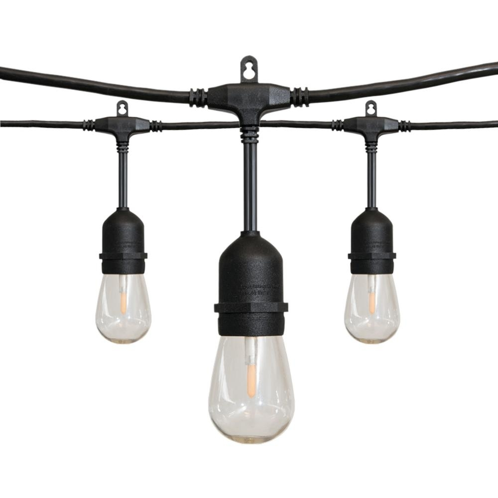 Inspiration about 24 Ft. 12 Light Led String Light 10295 – The Home Depot Pertaining To Hanging Outdoor String Lights At Home Depot (#4 of 15)