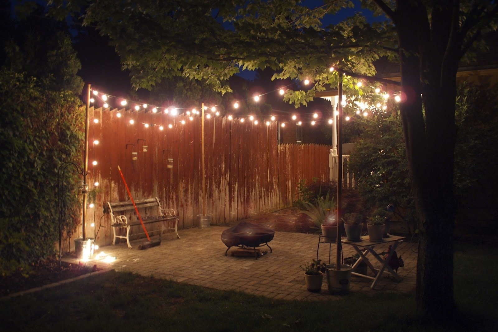 Inspiration about 25 Socket Outdoor Patio String Light Set, G50 Clear Globe Bulbs, 28 For Outdoor String And Patio Lights (#15 of 15)