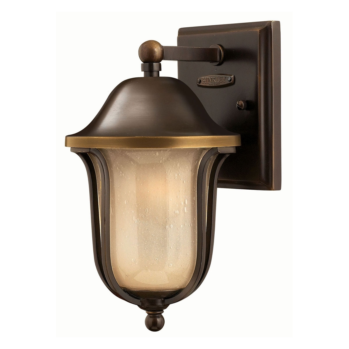 2636Ob – Mini Outdoor Wall Light, Bolla Olde Bronze | Hinkley In Brass Porch Hinkley Lighting (#2 of 15)