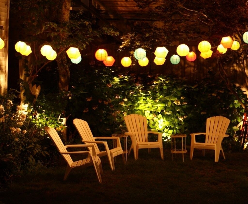 27 Pretty Backyard Lighting Ideas For Your Home | Backyard, Outdoor Throughout Outdoor Hanging Chinese Lanterns (#1 of 15)