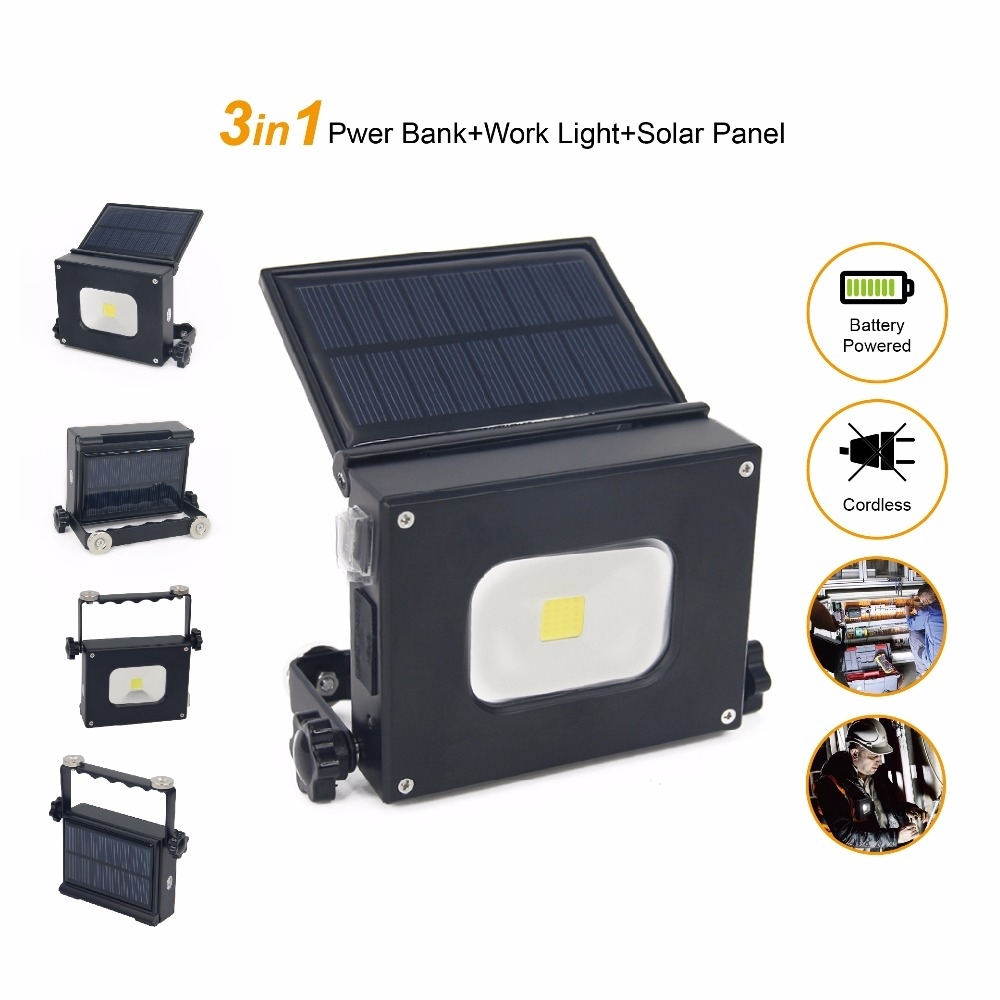 Inspiration about 2Pcs/lot 10W Solar Led Pocket Light Portable Camping Lantern Outdoor In Outdoor Hanging Work Lights (#12 of 15)