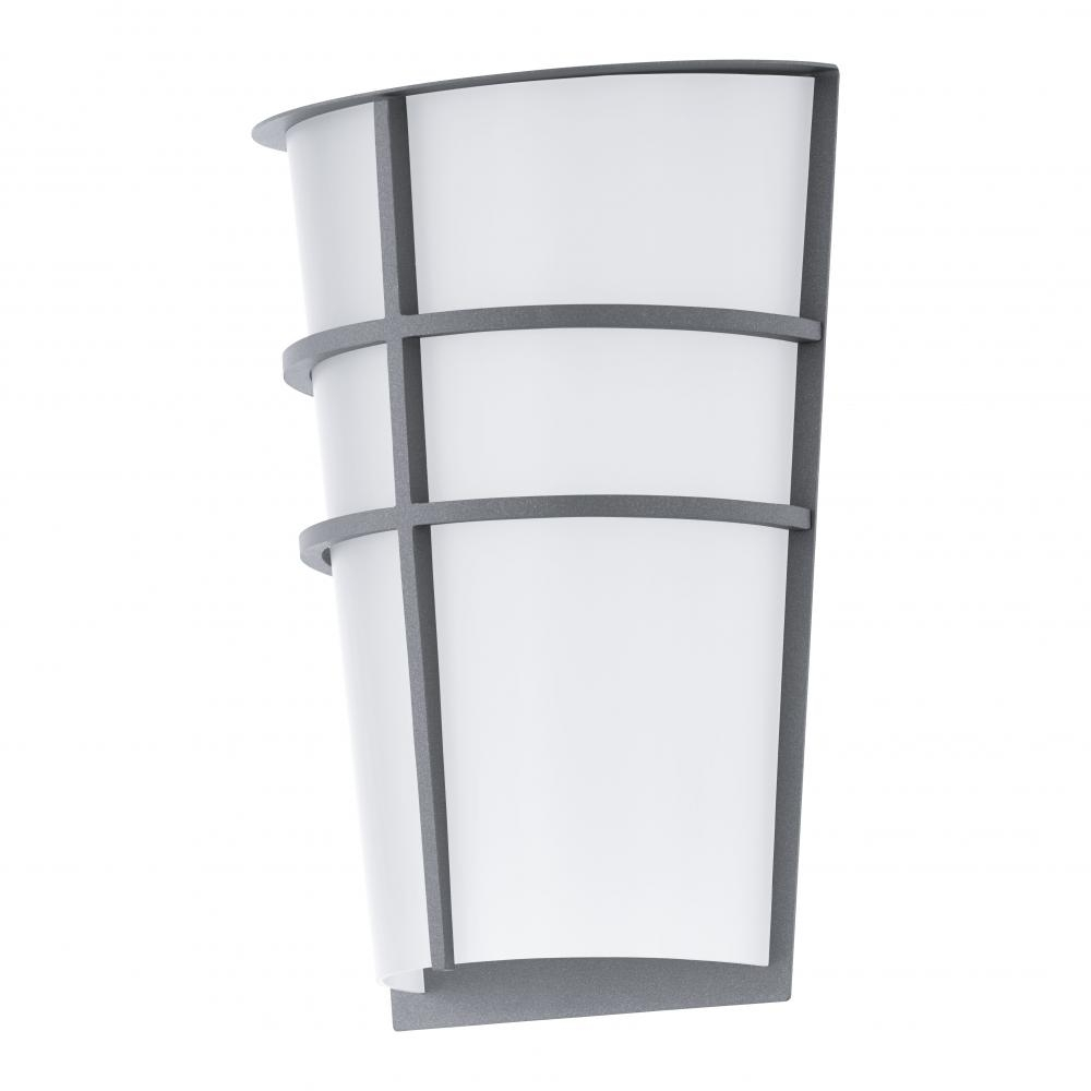Inspiration about 2X2.5W Led Outdoor Wall Light W/ Silver Finish & White Plastic Glass Inside Plastic Outdoor Wall Lighting (#3 of 15)