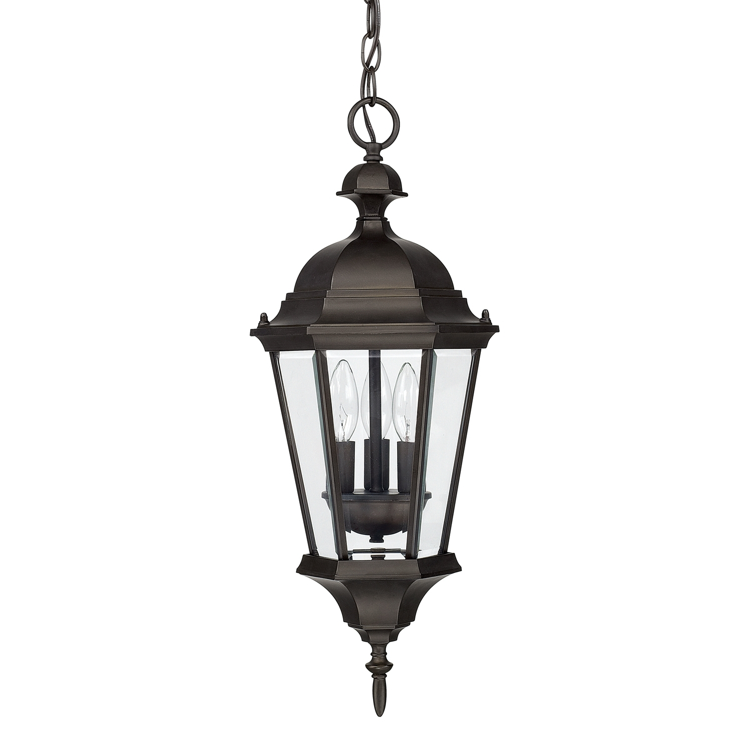 Inspiration about 3 Light Hanging Lantern | Capital Lighting Fixture Company With Regard To Outdoor Hanging Glass Lanterns (#7 of 15)