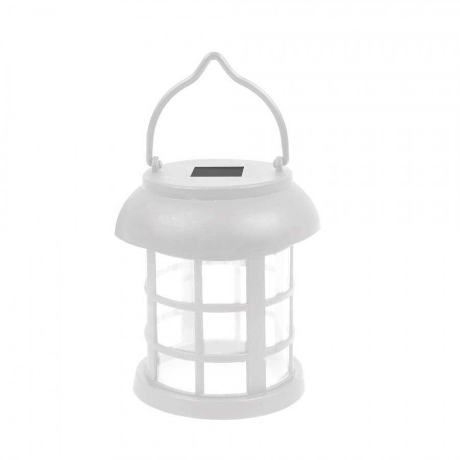 Inspiration about 4 Solar Hanging White Lanterns Outdoor Garden Lights In Outdoor Hanging Garden Lanterns (#12 of 15)