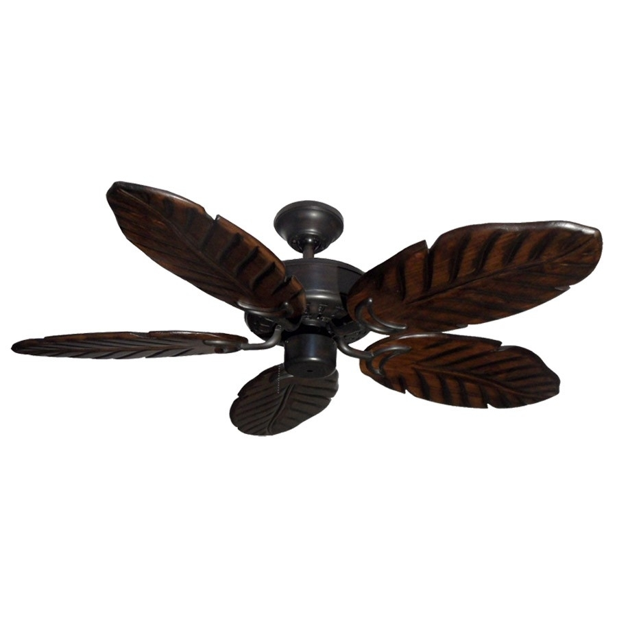 "42"" Outdoor Tropical Ceiling Fan Oil Rubbed Bronze Finish – Treated In Outdoor Ceiling Fans With Damp Rated Lights (#1 of 15)"
