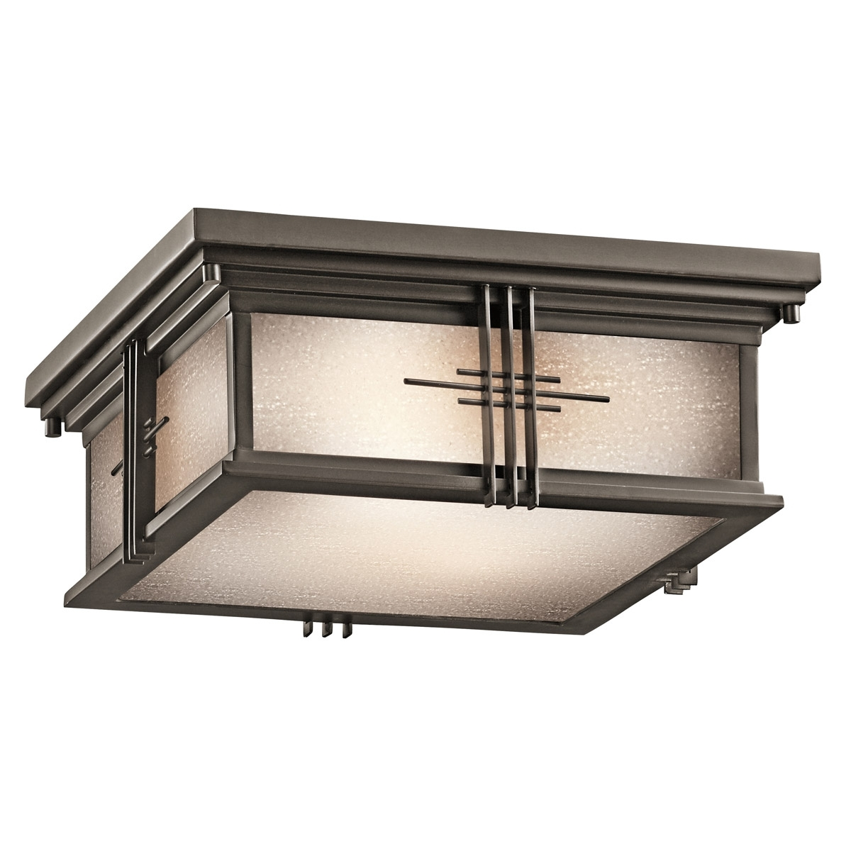 49164Oz Portman Square Outdoor Flush Mount Ceiling Fixture With Regard To Decorative Outdoor Ceiling Lights (#1 of 15)