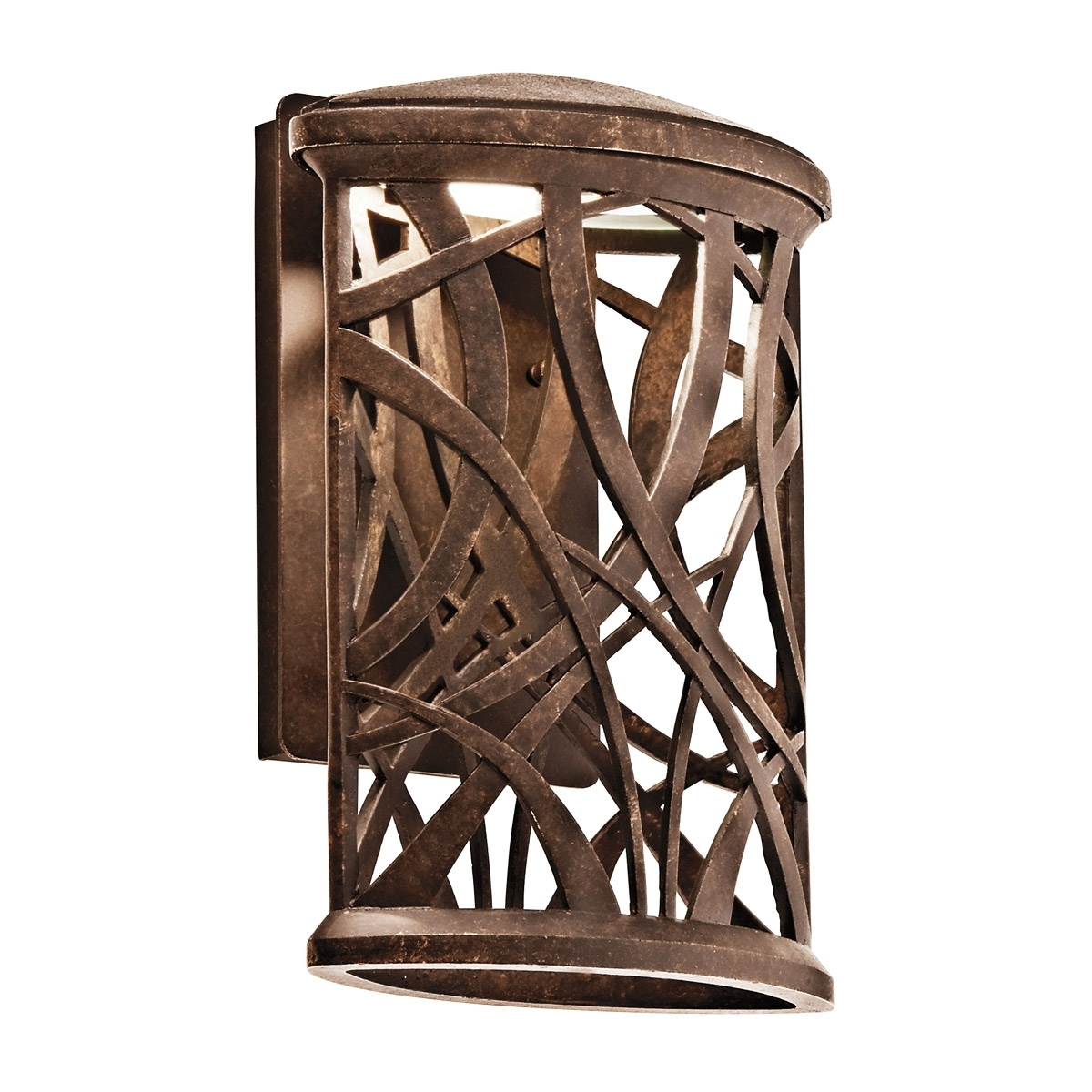 49249Agzled Maya Palm Energy Efficient Dark Sky Outdoor Wall Sconce Pertaining To Dark Sky Outdoor Wall Lighting (View 15 of 15)