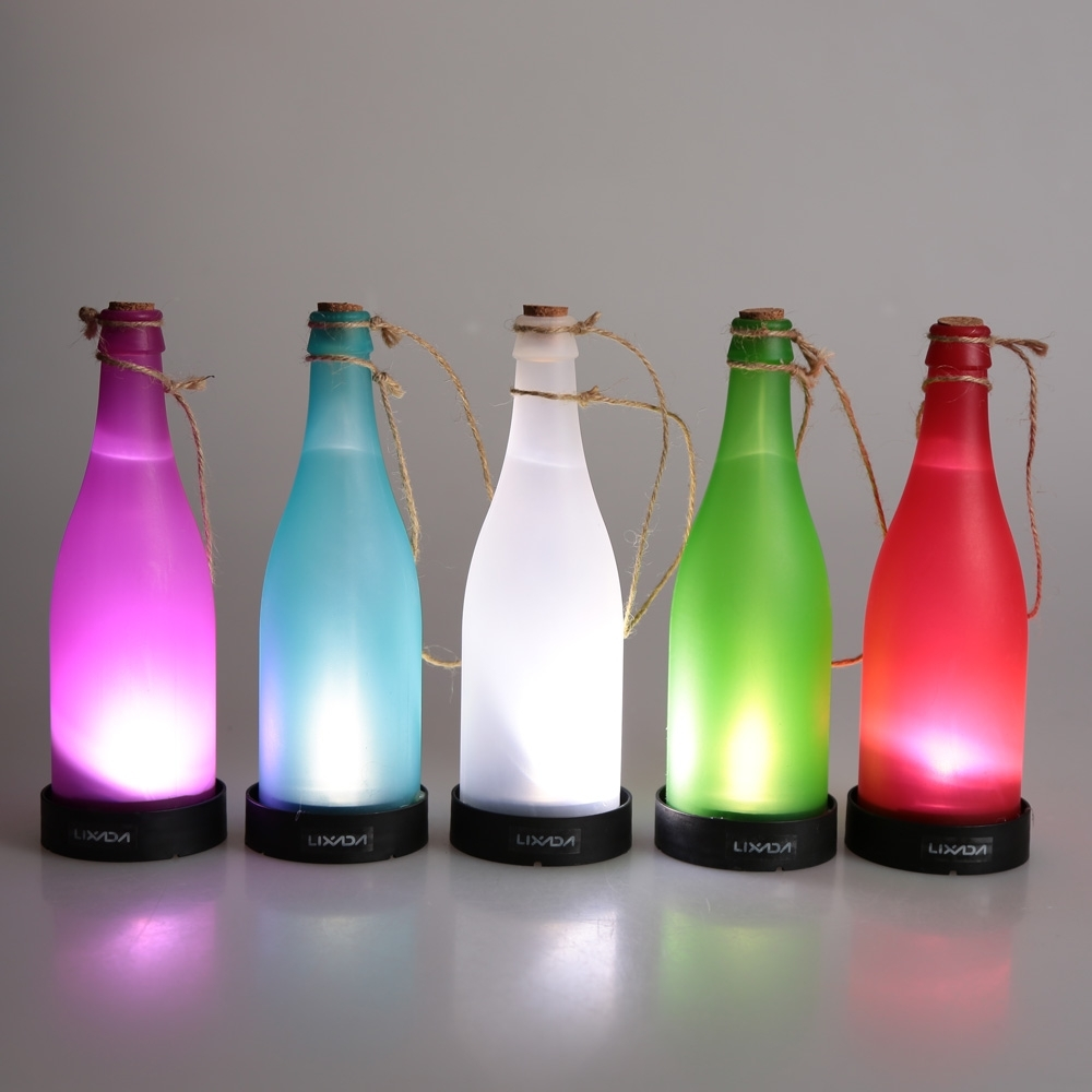 Inspiration about 5 Pcs/sets Cork Wine Bottle Led Solar Powered Sense Light Outdoor For Outdoor Hanging Bottle Lights (#2 of 15)