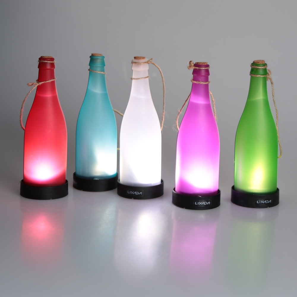Inspiration about 5 Pcs/sets Cork Wine Bottle Led Solar Powered Sense Light Outdoor Regarding Outdoor Hanging Bottle Lights (#5 of 15)