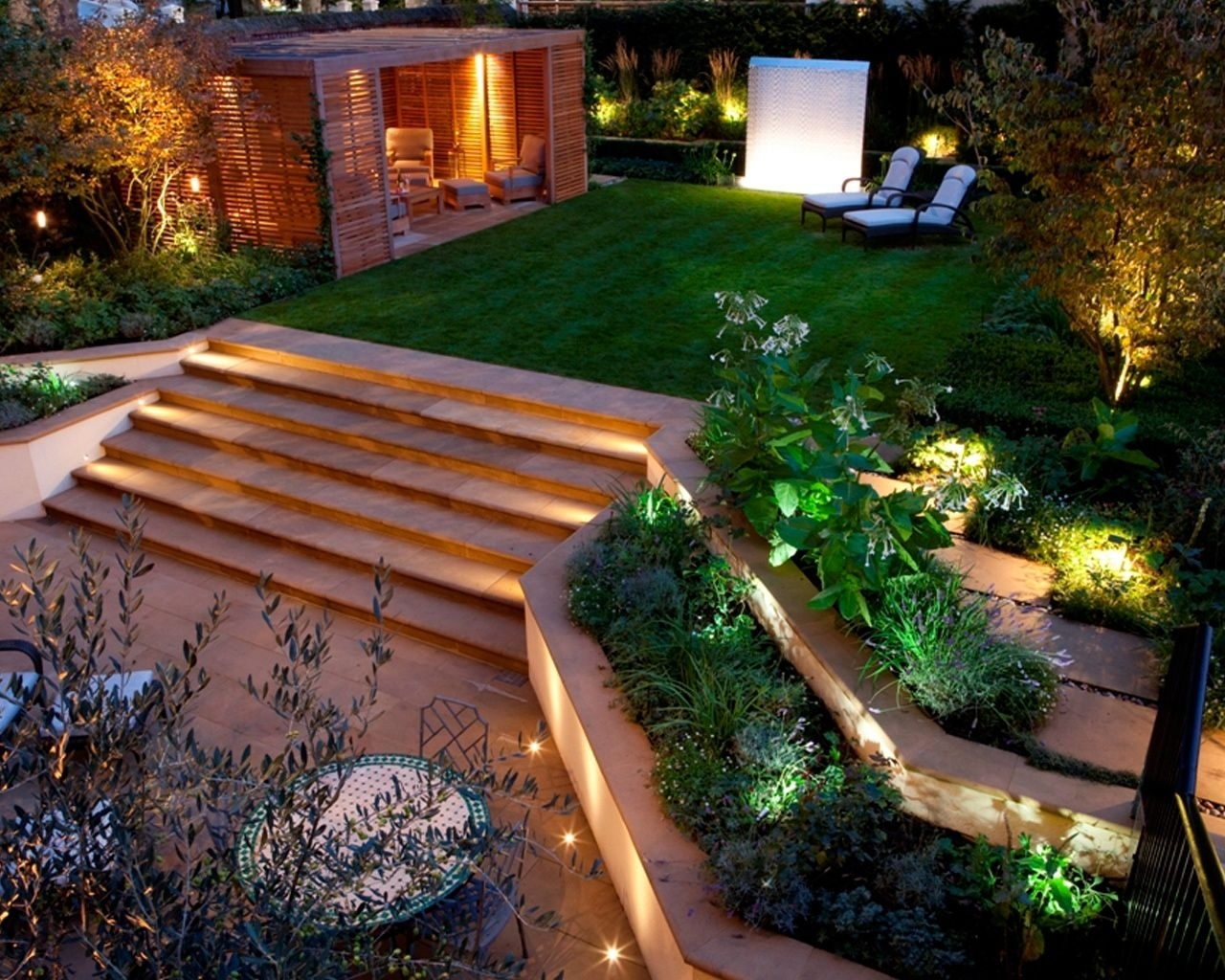 Inspiration about 50 Modern Garden Design Ideas To Try In 2017 | Contemporary Gardens Throughout Modern Small Outdoor Solar Lights (#11 of 15)