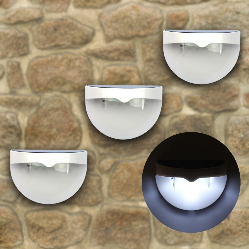 Inspiration about 6 Led Solar Powered Outdoor Wall Light | Best Solar Garden Lights With Outdoor Wall Solar Lighting (#10 of 15)