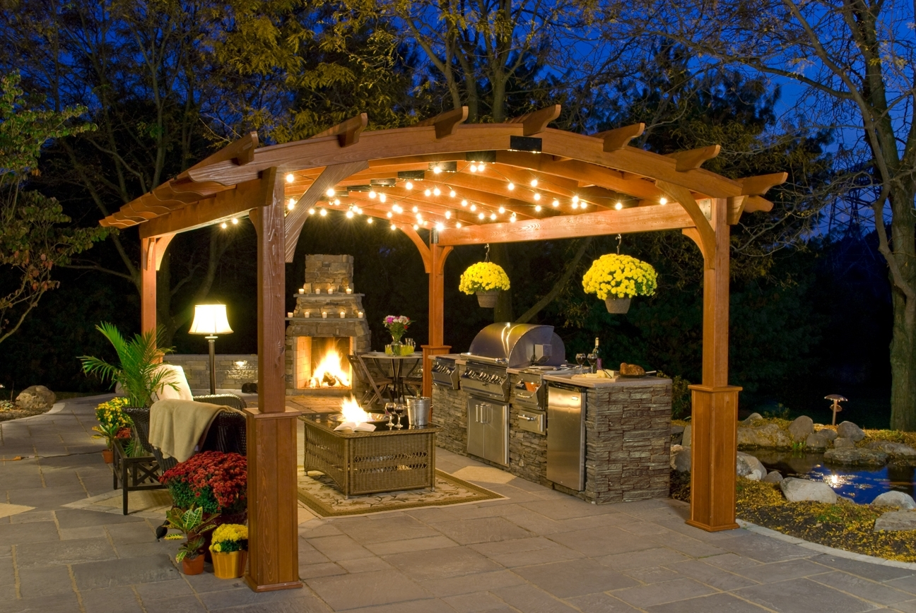 Inspiration about 6 Simple Ideas Of Pergola Lighting – Kloter Farms Blog For Outdoor Hanging Lights For Pergola (#15 of 15)