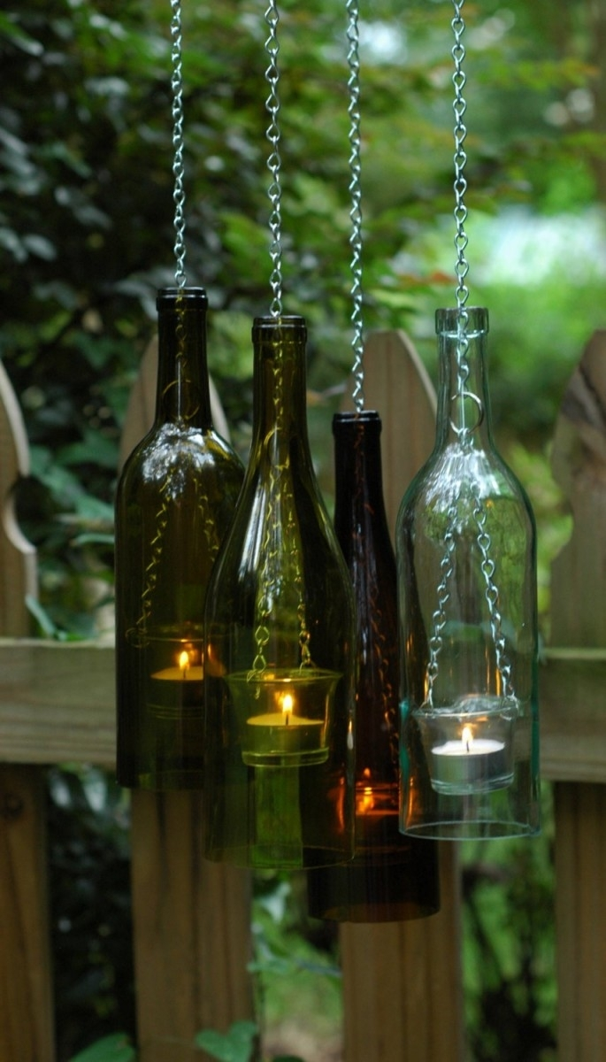Inspiration about 60 Creative Diy Glass Bottle Ideas For Your Outdoor Living Space Regarding Making Outdoor Hanging Lights From Wine Bottles (#6 of 15)