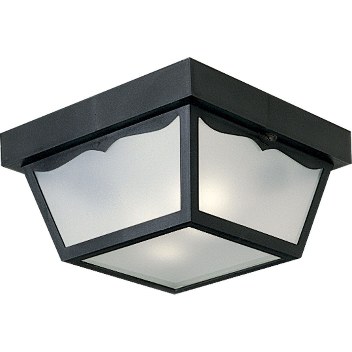 Inspiration about 60W Outdoor Flush Mount Non Metallic Ceiling Light – Progress Within Black Outdoor Ceiling Lights (#5 of 15)