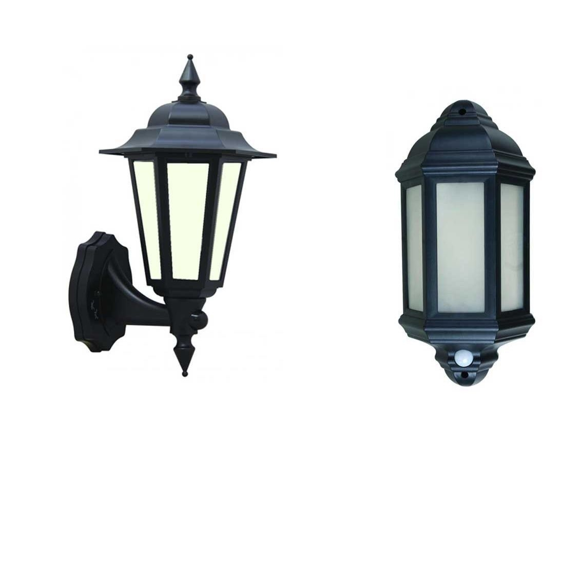 Inspiration about 60W Traditional Black Half Lantern Outdoor Garden Wall Light With Within Half Lantern Outside Wall Lights (#4 of 15)