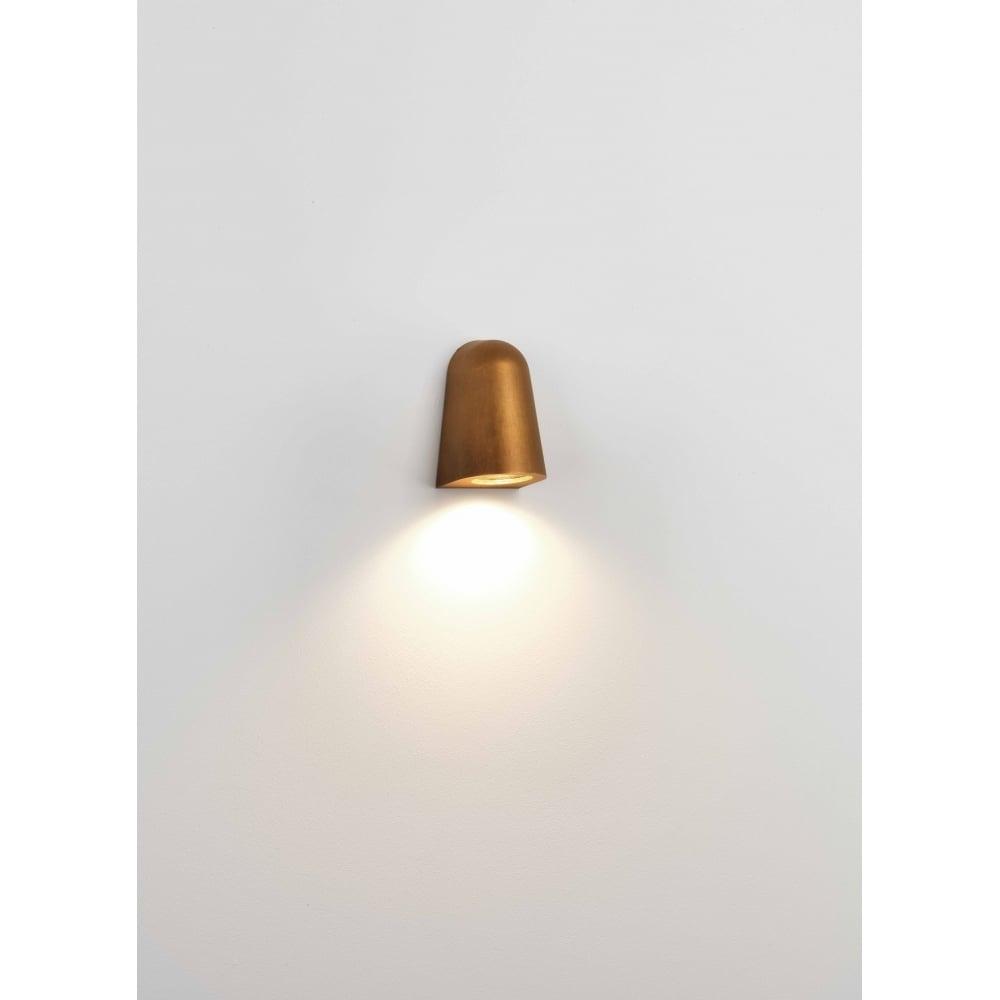 7836 Mast Light Outdoor Wall Light Antique Brass Regarding Brass Outdoor Wall Lighting (#1 of 15)