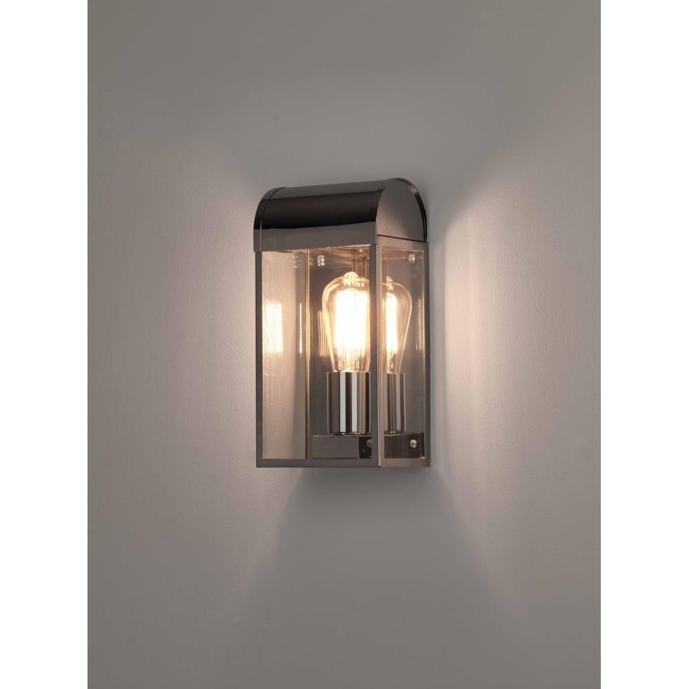 7863 Newbury Outdoor Wall Light Polished Nickel Pertaining To Nickel Polished Outdoor Wall Lighting (#1 of 15)
