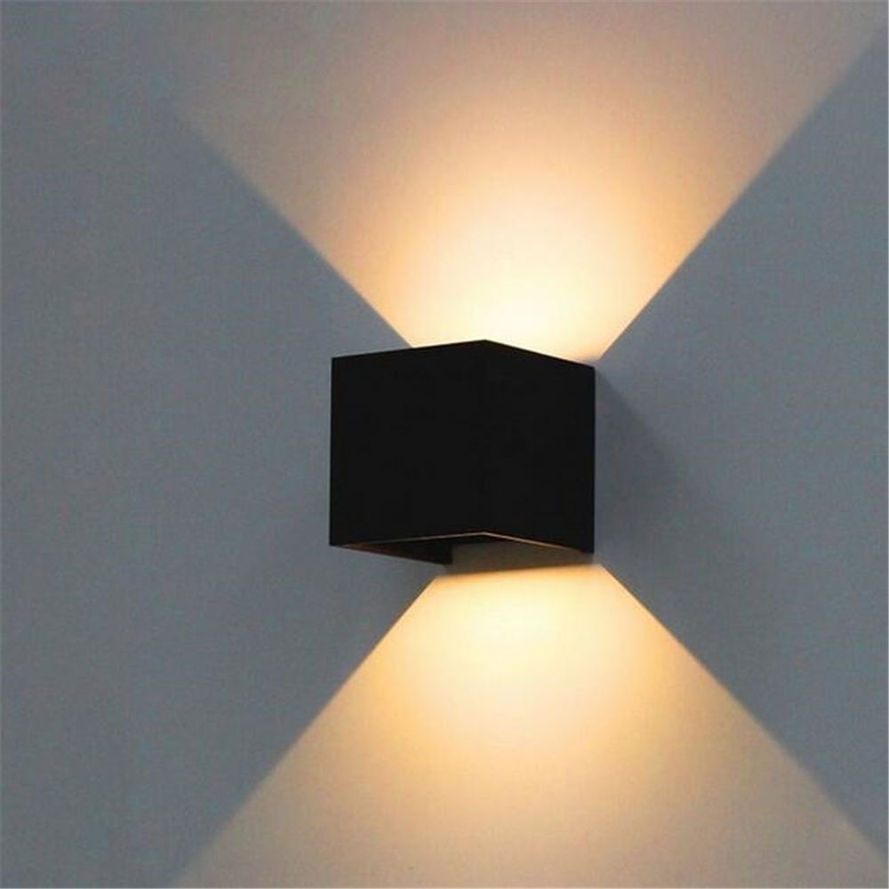 7W Led Outdoor Wall Lamp Ip65 Adjustable Surface Mounted Outdoor Inside Ip65 Outdoor Wall Lights (#2 of 15)