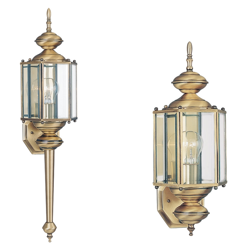 8510 01,one Light Outdoor Wall Lantern,antique Brass For Polished Brass Outdoor Ceiling Lights (#1 of 15)