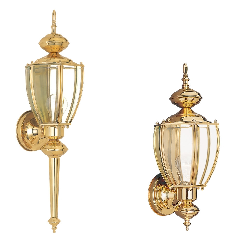 8578 02,one Light Outdoor Wall Lantern,polished Brass Pertaining To Polished Brass Outdoor Wall Lighting (#1 of 15)