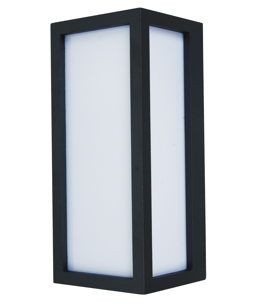 $90 Tucson 1Lt Plain Exterior Wall Bracket In Charcoal | Outdoor With Regard To Beacon Lighting Outdoor Wall Lights (#1 of 15)