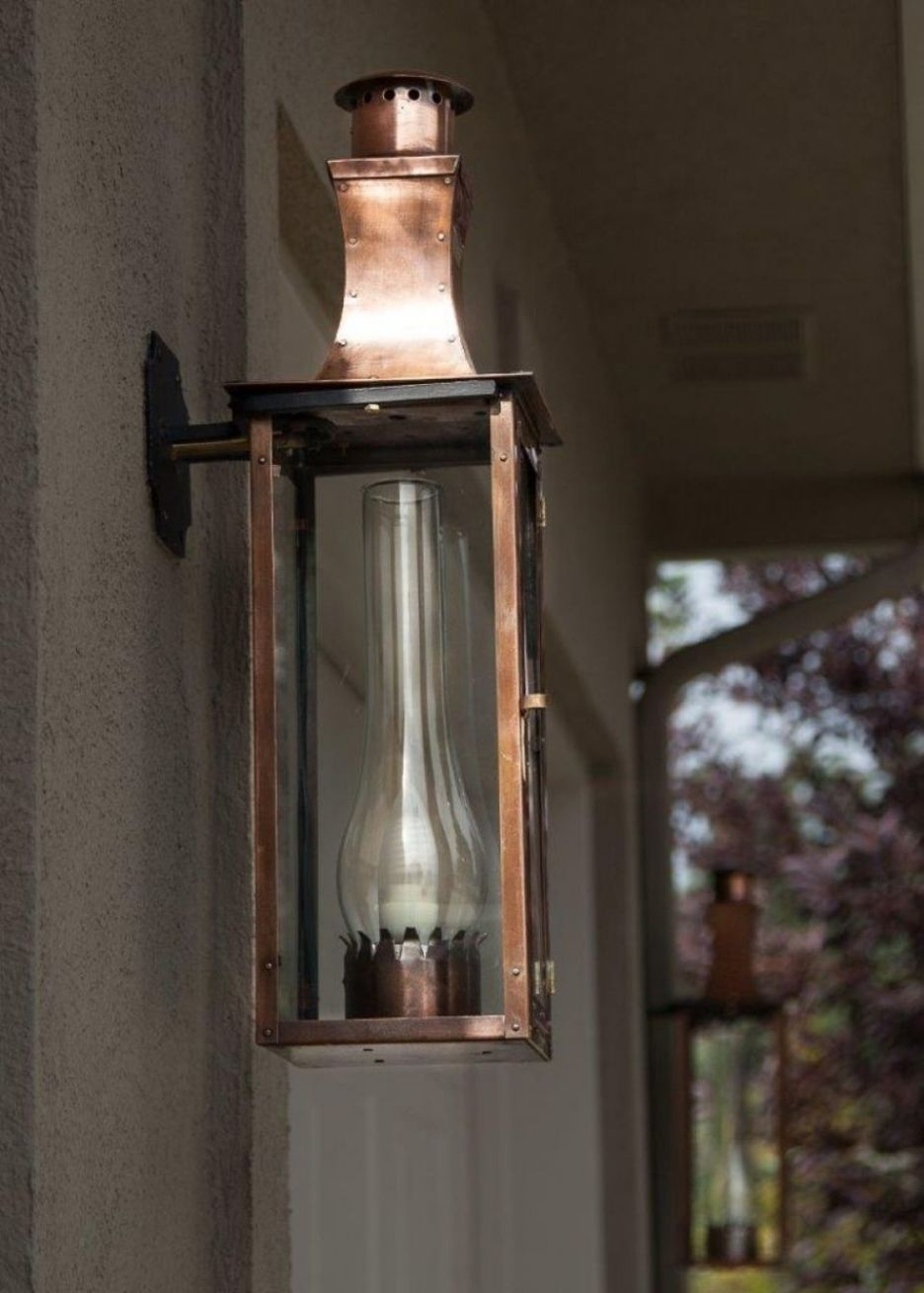 Accessories: Cozy Wall Mounted Glass Shade In Bronze Frame Gas Torch For Outdoor Wall Gas Lights (#2 of 15)