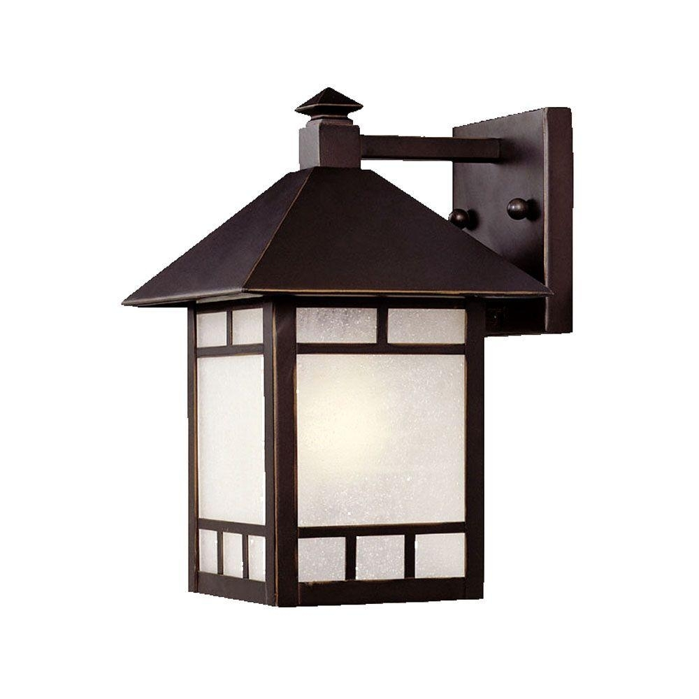 Acclaim Lighting Artisan Collection 1 Light Architectural Bronze Within Garden Porch Light Fixtures At Home Depot (#1 of 15)