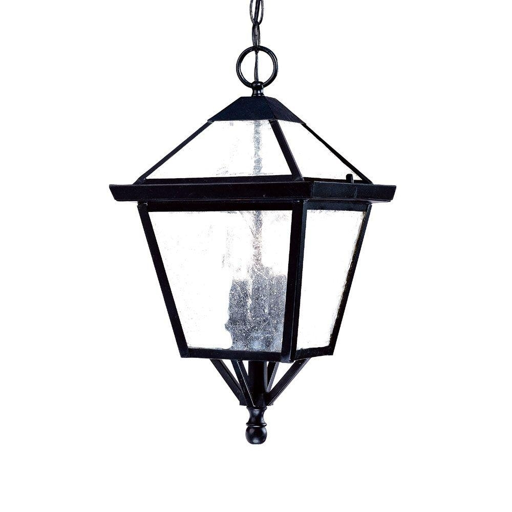 Acclaim Lighting Bay Street Collection 3 Light Matte Black Outdoor With Regard To Big Outdoor Hanging Lights (#4 of 15)