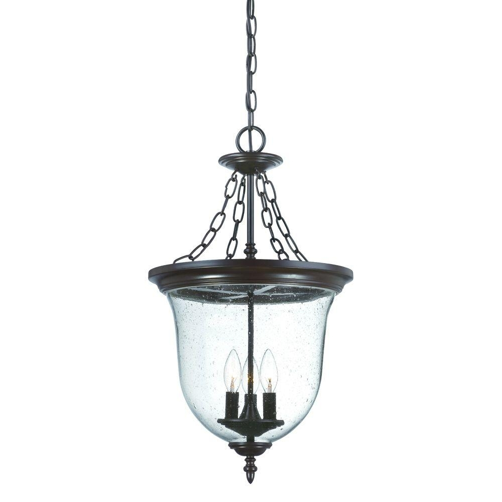 Acclaim Lighting Belle Collection 3 Light Architectural Bronze Throughout Outdoor Hanging Lamps Online (#2 of 15)