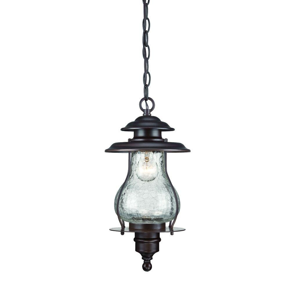 Acclaim Lighting Blue Ridge Collection 1 Light Architectural Bronze With Outdoor Hanging Lights At Home Depot (#1 of 15)